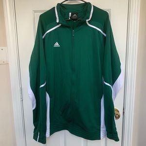 Adidas Climalite  Zip Up White/Green Jacket XL